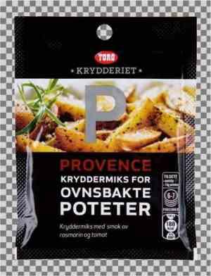 Prøv også Toro krydderiet potetkrydder provence tilberedt.