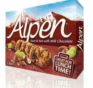 Prøv også Weetabix alpen fruit nut og chocolate bar.
