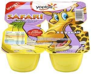 Prøv også Yoplait Safari giraffyoghurt.