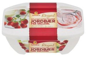 Prøv også Diplom Royal ekte norsk fløteis med rørte jordbær.
