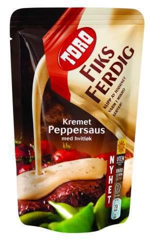 Prøv også Toro fiks ferdig kremet peppersaus.
