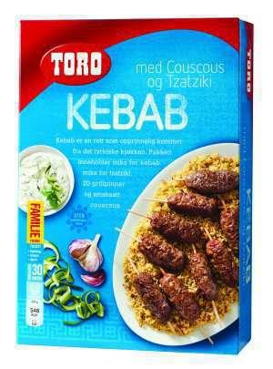 Les mer om Toro kebab med couscous og tzatziki hos oss.