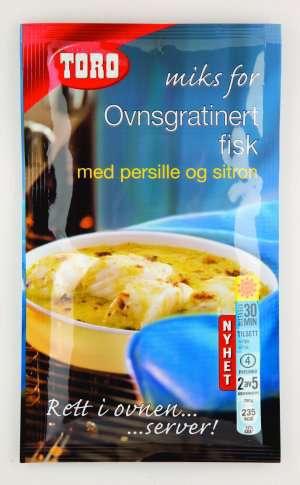 Prøv også Toro miks for ovnsgratinert fisk med persille og sitron.