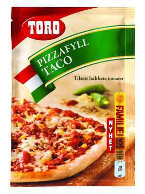 Prøv også Toro pizzafyll taco.
