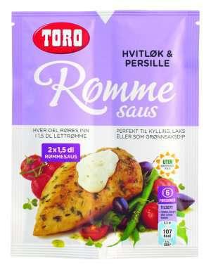 Prøv også TORO Rømmesaus med hvitløk & persille.