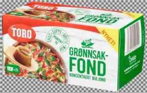 Prøv også Toro grønnsaksfond.