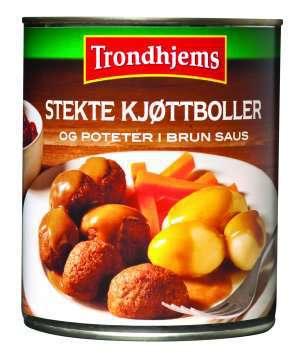 Les mer om Trondhjems Stekte kj�ttboller og poteter i brun saus hos oss.