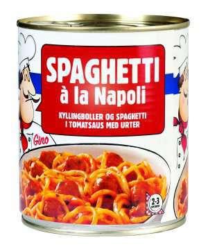 Prøv også Spaghetti à la Napoli.