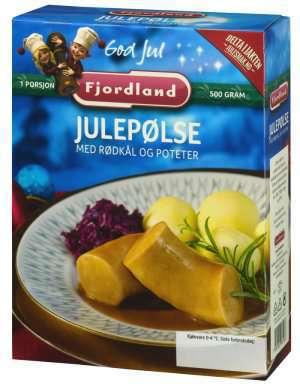 Prøv også Fjordland Julepølser med rødkål og poteter.