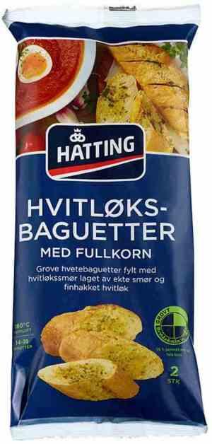 Prøv også Hatting Fullkorns hvitløksbaguette.