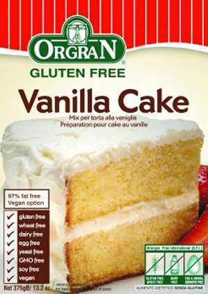 Prøv også Orgran vanilla cake mix.