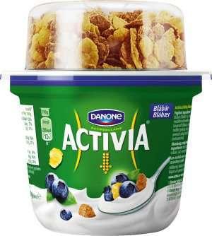 Prøv også Danone Activia blåbæryoghurt med corn og branflakes.