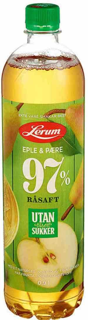 Prøv også Lerums eple-pæresaft utan tilsett sukker.