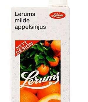 Prøv også Lerums milde appelsinjus.