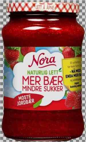 Prøv også Nora Naturlig lett jordbærsyltetøy most.