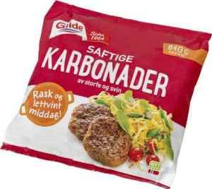 Prøv også Gilde Karbonader av storfe og svin.