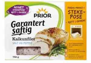 Prøv også Prior Kalkunfilet i stekepose, salt og pepper.