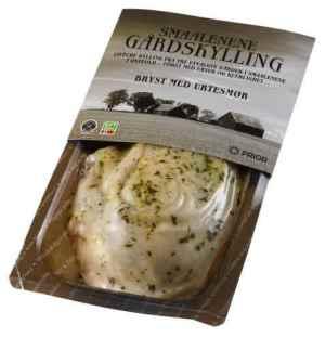 Prøv også Prior smaalenene gårdskylling bryst med urtesmør.