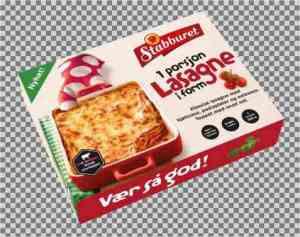Prøv også Stabburet lasagne.