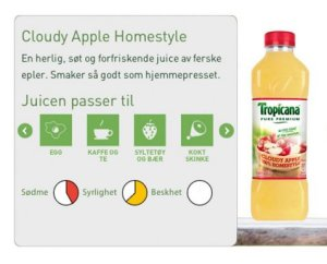 Prøv også Tropicana Cloudy Apple Homestyle.