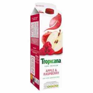 Prøv også Tropicana apple and raspberry.