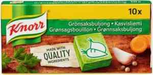 Prøv også Knorr grønnsaksbuljong.