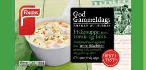 Prøv også Findus God Gammeldags Fiskesuppe med Torsk og Laks.
