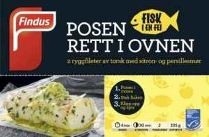 Prøv også Findus fisk i en fei torsk med sitron og persillesmør.