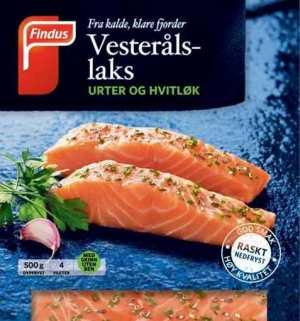 Prøv også Findus Vesterålslaks med urte og hvitløk.