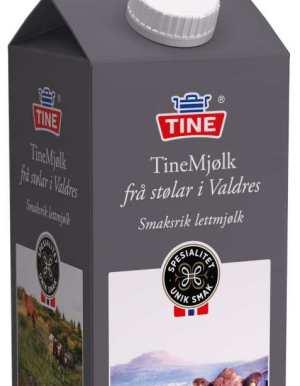 Prøv også Tine Mjølk frå stølar i Valdres Lettmjølk.