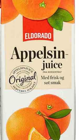 Prøv også Eldorado appelsinjuice.