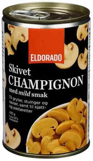 Prøv også Eldorado champignon skiver.