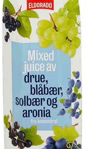 Prøv også Eldorado juice m/druer og blå bær.