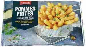 Prøv også Eldorado pommes frites.