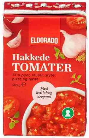 Prøv også Eldorado tomater hakkede m/hvitløk.