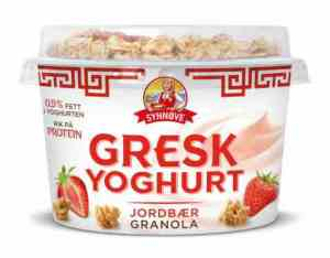 Prøv også Synnøve gresk yoghurt jordbær og granola.