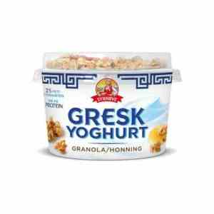 Prøv også Synnøve gresk yoghurt honning og granola.
