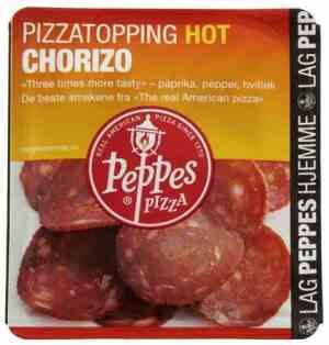 Prøv også Peppes Chorizo.