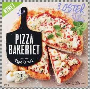 Prøv også Pizzabakeriet 3 oster.