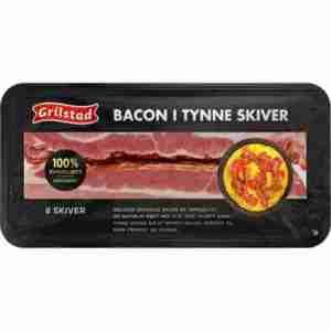 Prøv også Grilstad bacon i tynne skiver.