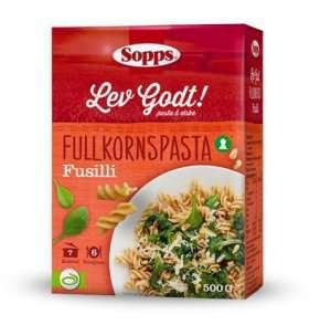 Prøv også Sopps Fusilli Fullkornspasta.