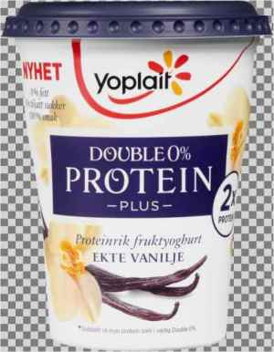 Prøv også Yoplait Double 0% Protein Plus Vanilje.