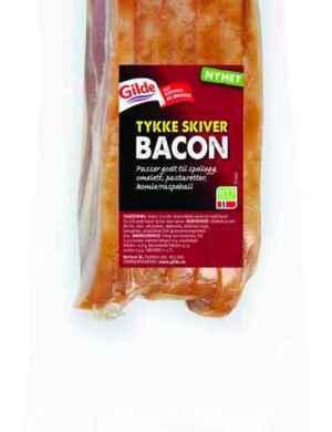 Prøv også Gilde Bacon med svor tykke skiver.