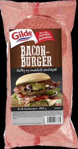 Prøv også Gilde baconburger.