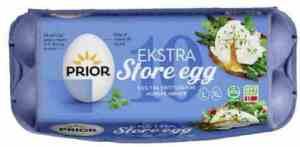 Prøv også Prior egg LXL frittgående.