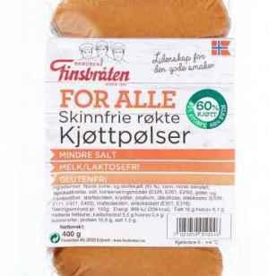 Prøv også Finsbråten for alle skinnfrie røkte kjøttpølser.
