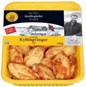 Prøv også Den stolte hane grillede kyllingvinger.