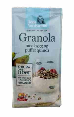 Prøv også Synnøve granola med bygg og puffet quinoa.