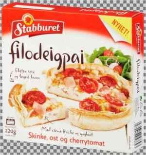 Prøv også Stabburet filodeigpai ost og skinke.