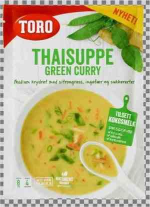 Prøv også Toro thaisuppe green curry.